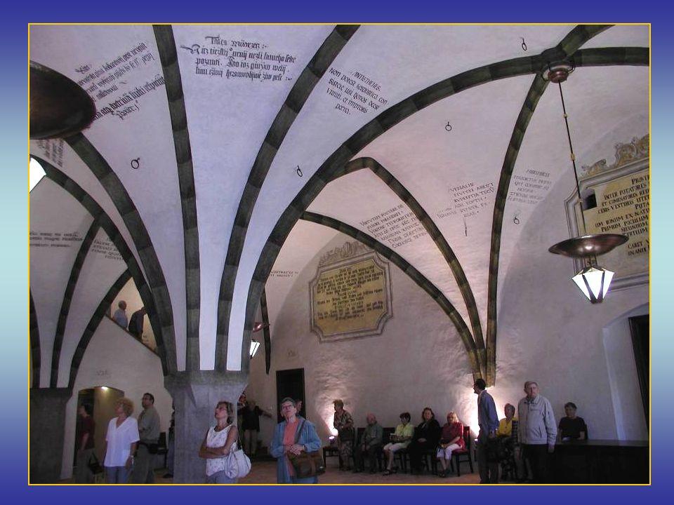 Velká gotická síň na radnici, nově zrestaurovaná v letech 2004 - 6