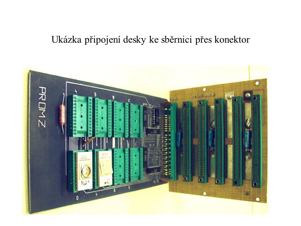 Ukázka připojení desky ke sběrnici přes konektor