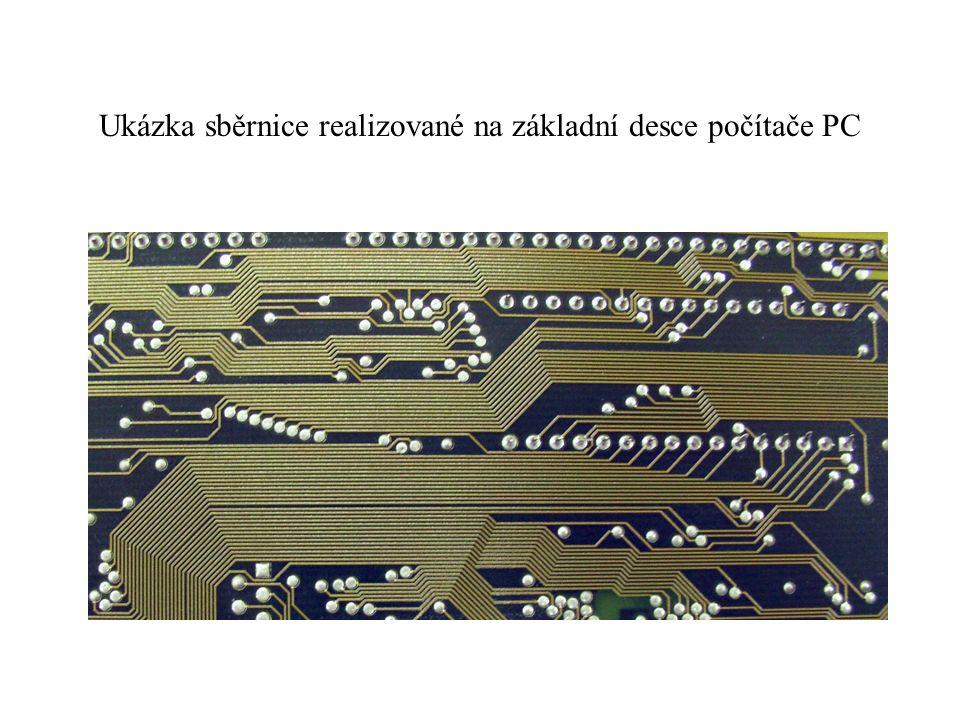 Ukázka sběrnice realizované na základní desce počítače PC