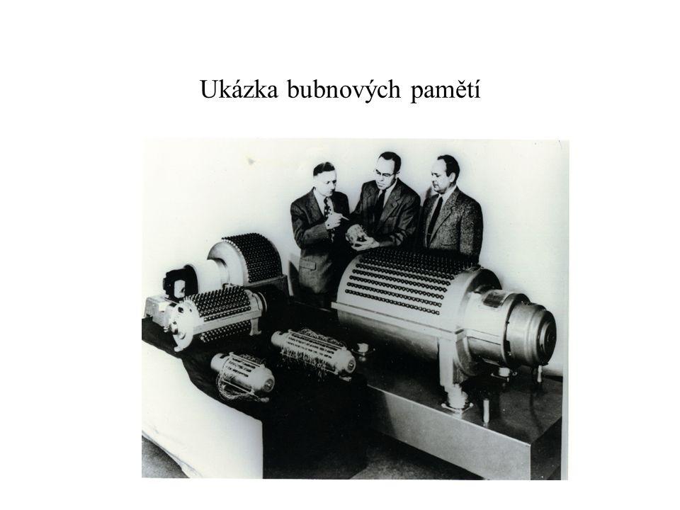 Ukázka bubnových pamětí