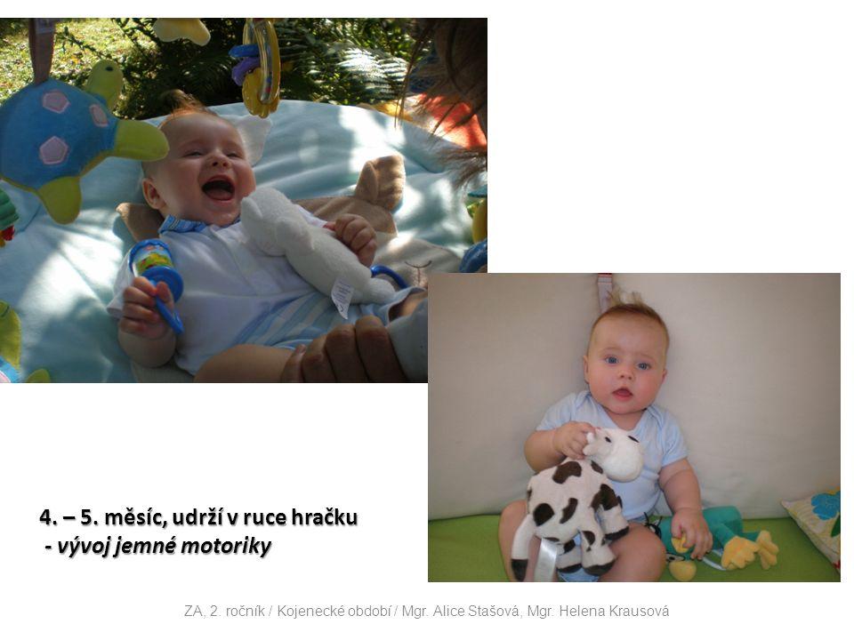4. – 5. měsíc, udrží v ruce hračku - vývoj jemné motoriky - vývoj jemné motoriky ZA, 2.