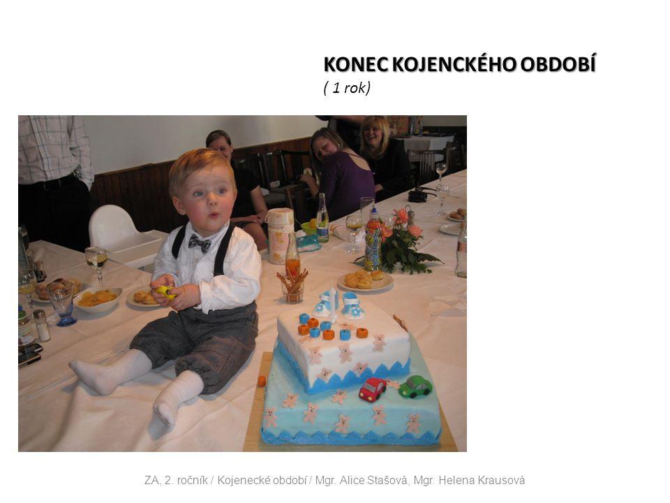 KONEC KOJENCKÉHO OBDOBÍ ( 1 rok) ZA, 2. ročník / Kojenecké období / Mgr.