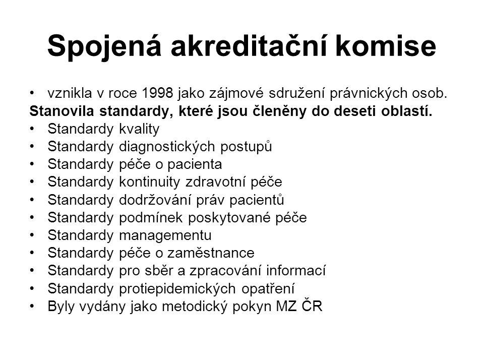 Spojená akreditační komise vznikla v roce 1998 jako zájmové sdružení právnických osob.