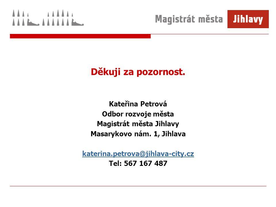 Děkuji za pozornost. Kateřina Petrová Odbor rozvoje města Magistrát města Jihlavy Masarykovo nám.