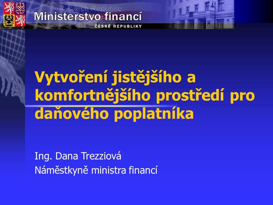 Vytvoření jistějšího a komfortnějšího prostředí pro daňového poplatníka Agenda 1.