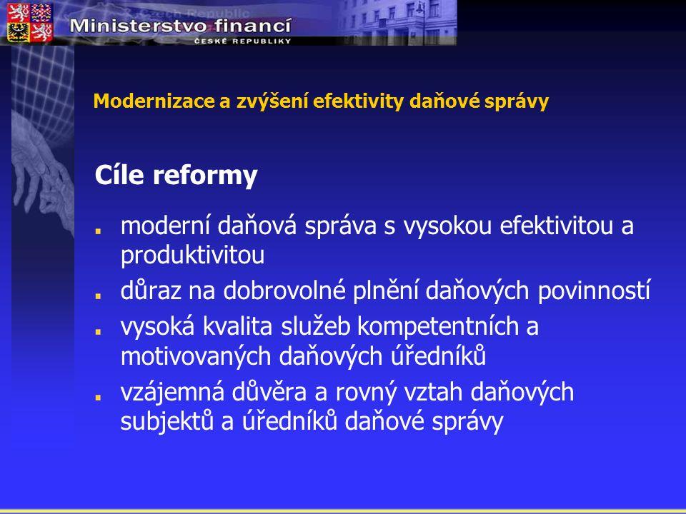Modernizace a zvýšení efektivity daňové správy A.A.