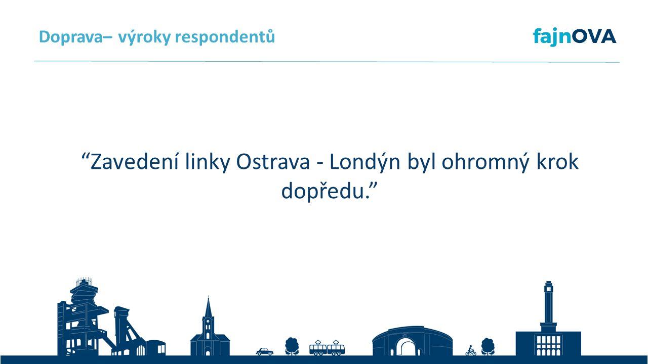 Zavedení linky Ostrava - Londýn byl ohromný krok dopředu. Doprava– výroky respondentů