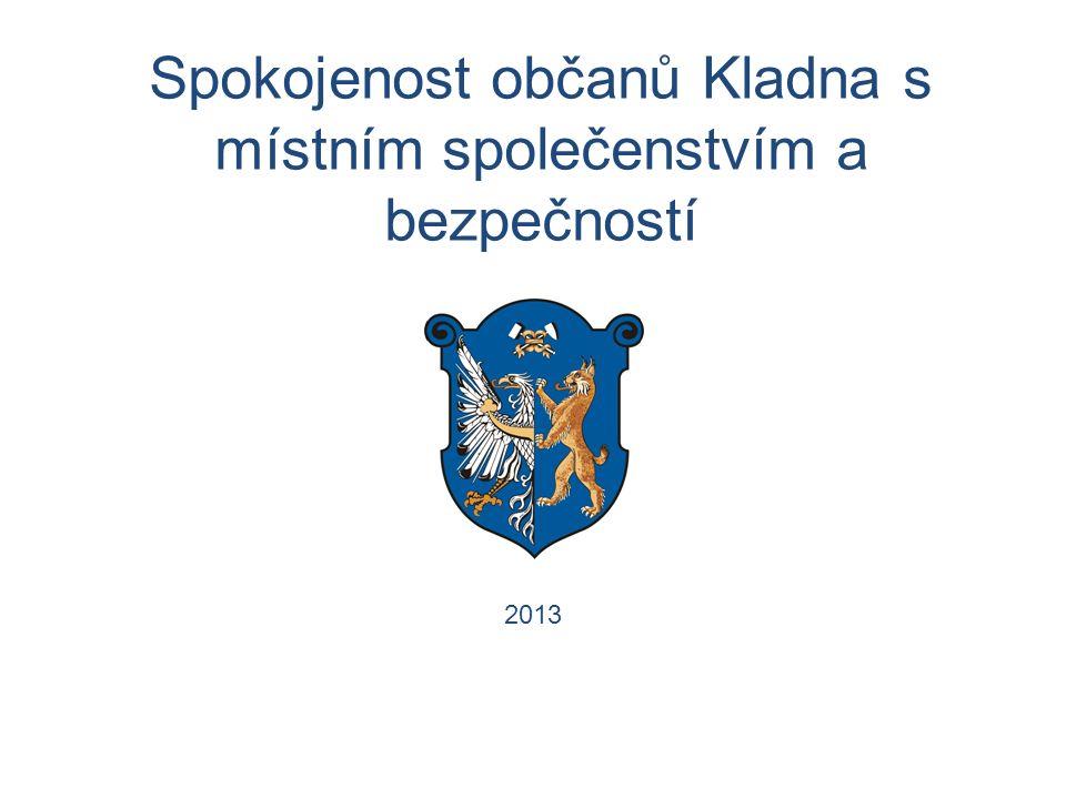 Spokojenost občanů Kladna s místním společenstvím a bezpečností 2013