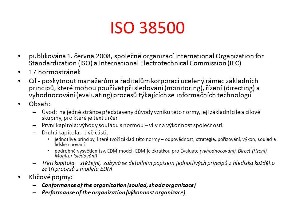 ISO 38500 publikována 1.