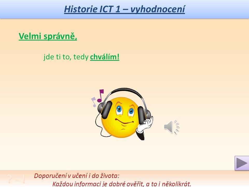 Historie ICT 1 – autotest .