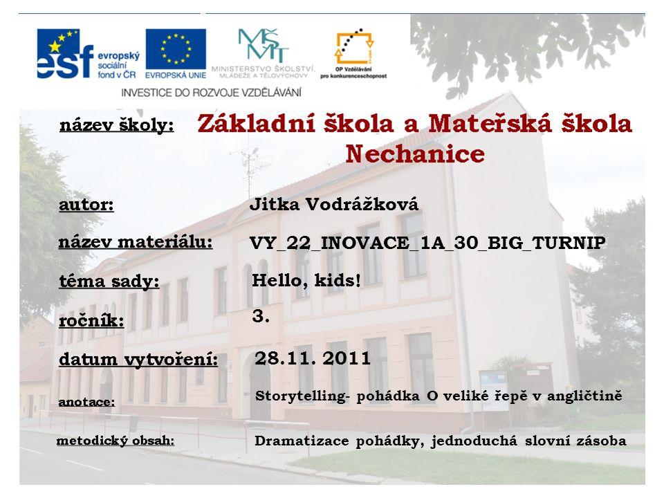 Jitka Vodrážková Hello, kids. 3. 28.11.