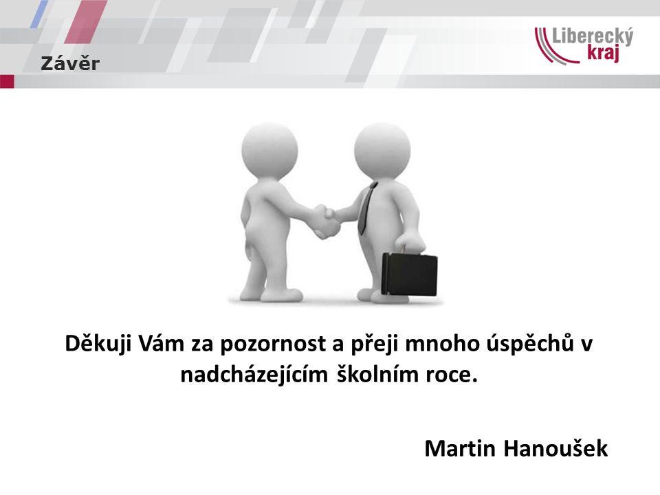 Závěr Děkuji Vám za pozornost a přeji mnoho úspěchů v nadcházejícím školním roce. Martin Hanoušek