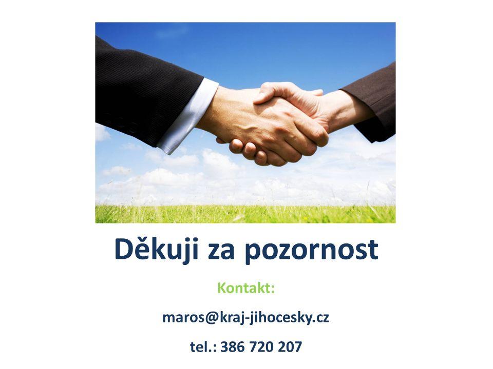 Děkuji za pozornost Kontakt: maros@kraj-jihocesky.cz tel.: 386 720 207