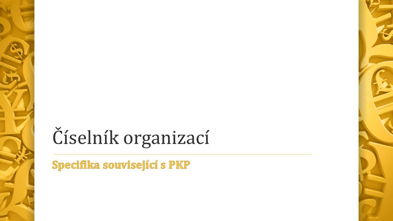 Číselník organizací