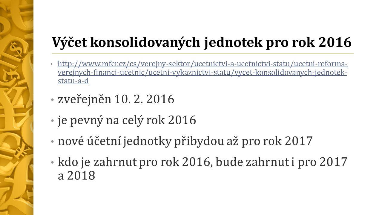 Vzájemné odsouhlasení § 22 konsolidační vyhlášky pro všechny v.