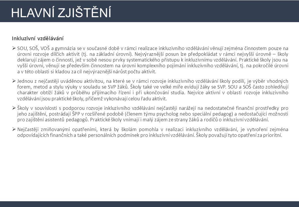 HLAVNÍ ZJIŠTĚNÍ Infrastruktura (investiční část) Ve srovnání s ostatními kraji ČR projevily školy ve Zlínském kraji lehce nadprůměrný zájem o čerpání finančních prostředků.