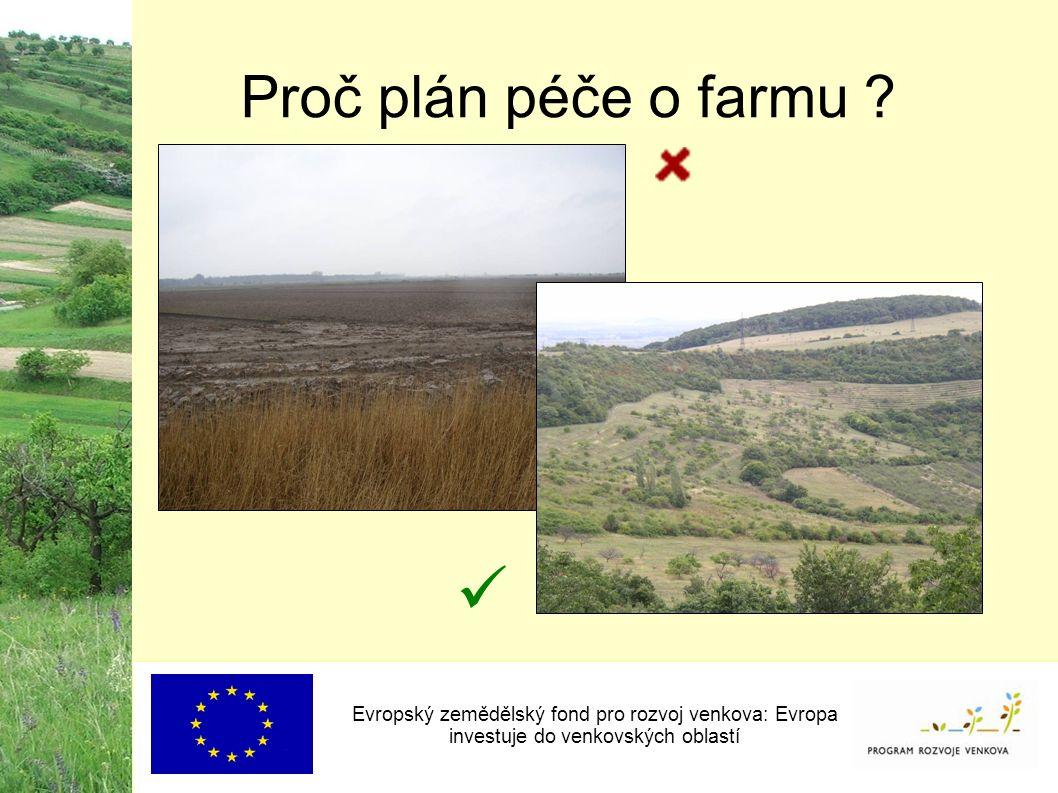 Proč plán péče o farmu .