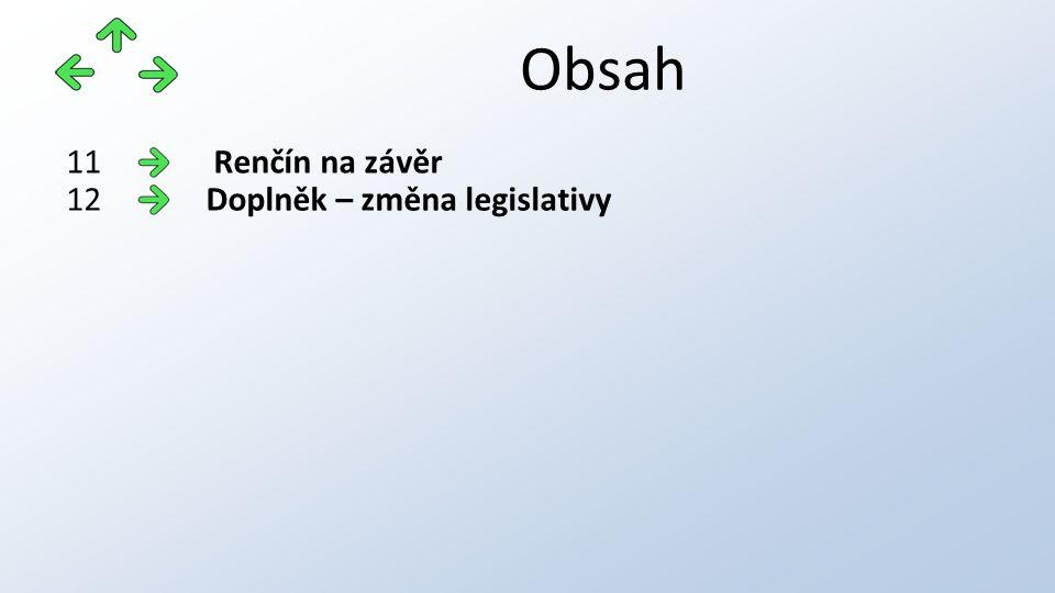 Obsah Renčín na závěr11 Doplněk – změna legislativy12