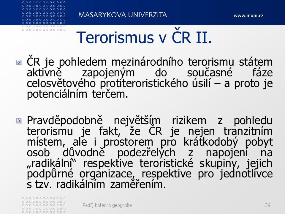 Terorismus v ČR II.