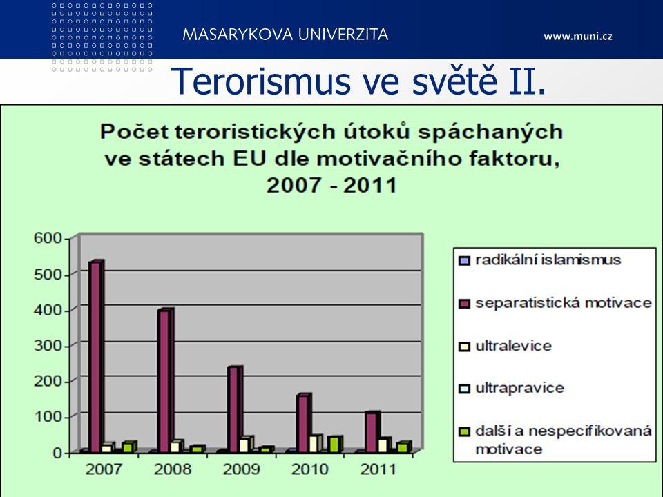 Terorismus ve světě II. PedF, katedra geografie51