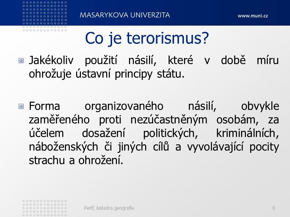 Historické aspekty terorismu v ČR (ČSR) Po roce 1989 vznikly extrémistické pravicové organizace – hnutí skinheads, národně nacionalistická strana, dělnická strana.
