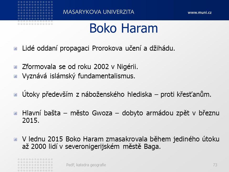 Boko Haram Lidé oddaní propagaci Prorokova učení a džihádu.