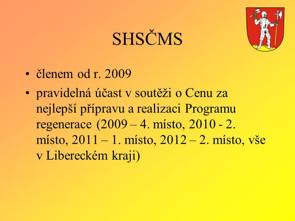 SHSČMS členem od r. 2009 pravidelná účast v soutěži o Cenu za nejlepší přípravu a realizaci Programu regenerace (2009 – 4. místo, 2010 - 2. místo, 201