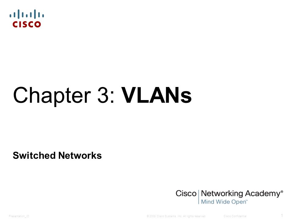 VLANs in a Multi-Switched Environment Tagging Ethernet Frames for VLAN Identification