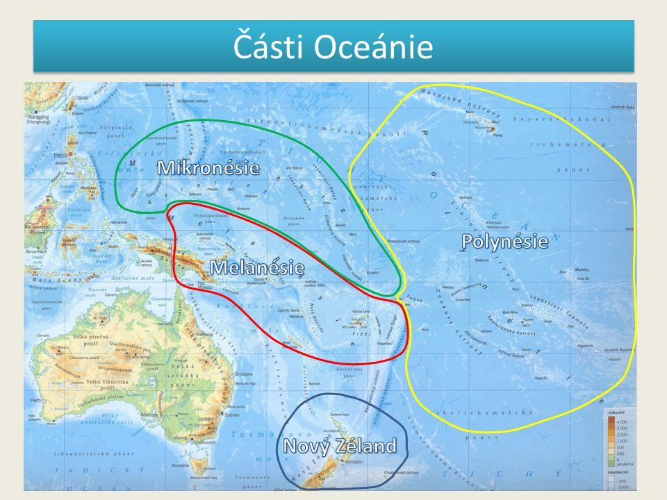 Části Oceánie