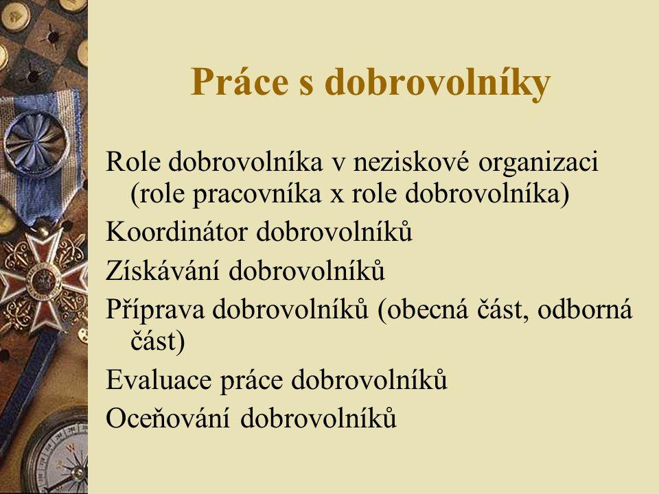 Dobrovolnictví z hlediska práva Zákon č.198/2002 Sb.