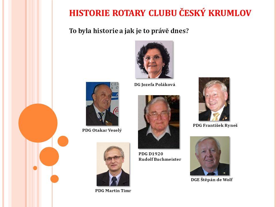 Rotary Club Český Krumlov je nejen velmi aktivním jihočeským klubem v rámci projektů, ale díky svému domovskému městu Český Krumlov, které je jedním z historických skvostů České republiky zaznamenané na listině kulturního dědictví UNESCO, je rovněž oblíbeným cílem návštěv rotariánů z celého světa.