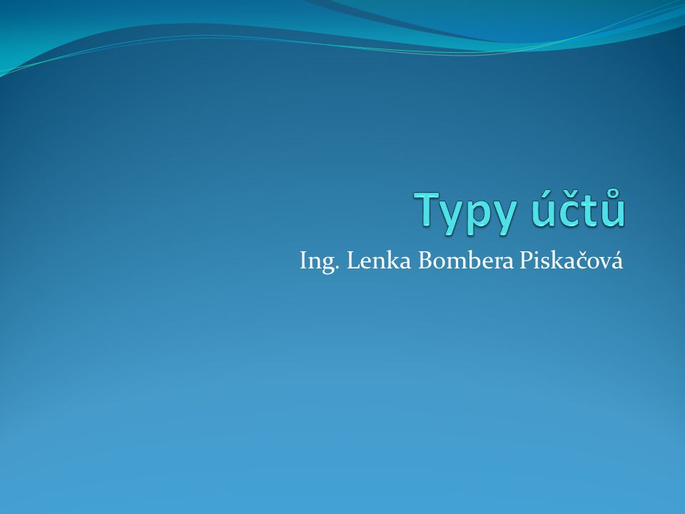 Ing. Lenka Bombera Piskačová