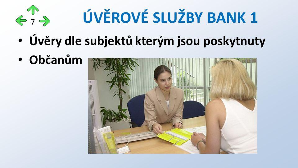 Úvěry dle subjektů kterým jsou poskytnuty Občanům ÚVĚROVÉ SLUŽBY BANK 1 7
