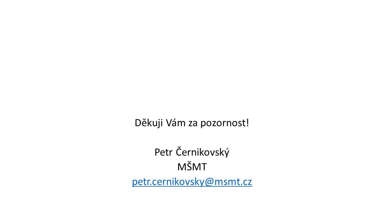 Děkuji Vám za pozornost! Petr Černikovský MŠMT petr.cernikovsky@msmt.cz