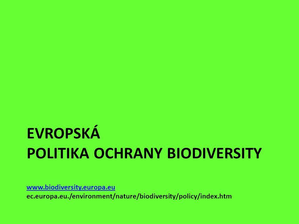 EVROPSKÁ POLITIKA OCHRANY BIODIVERSITY www.biodiversity.europa.eu ec.europa.eu./environment/nature/biodiversity/policy/index.htm www.biodiversity.euro