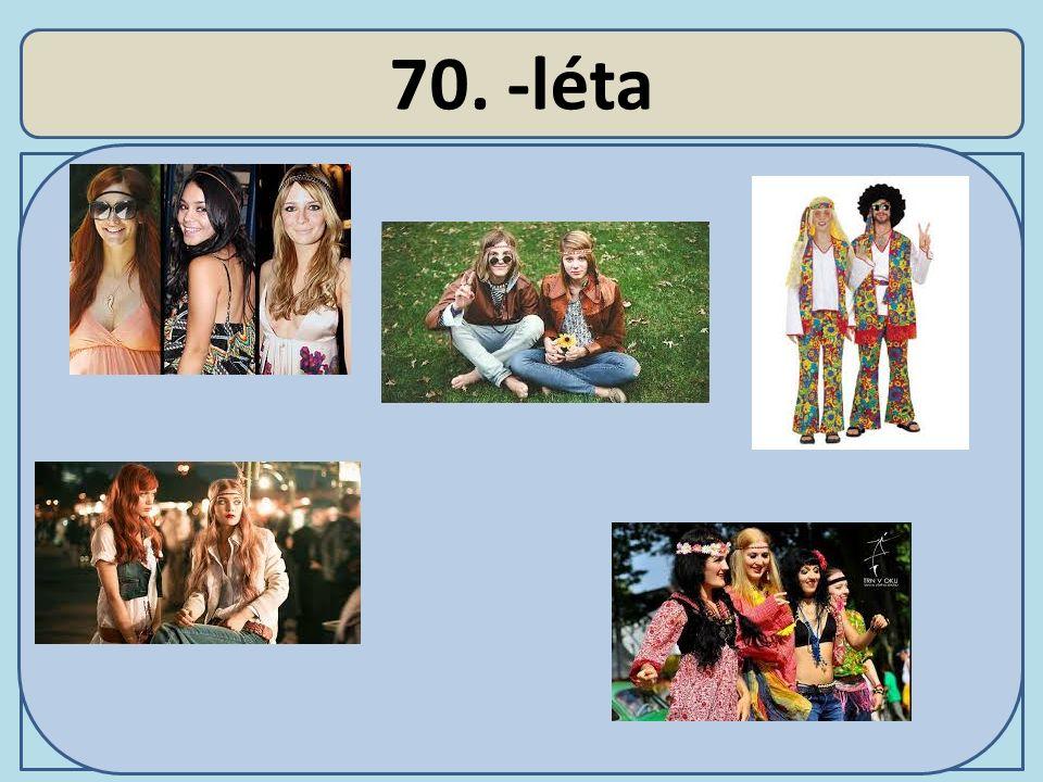 Účesy 70.-léta Účesová tvorba zdůrazňuje přirozenost.