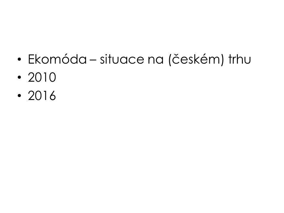 Ekomóda – situace na (českém) trhu 2010 2016