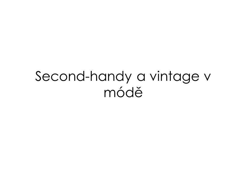 Second-handy a vintage v módě