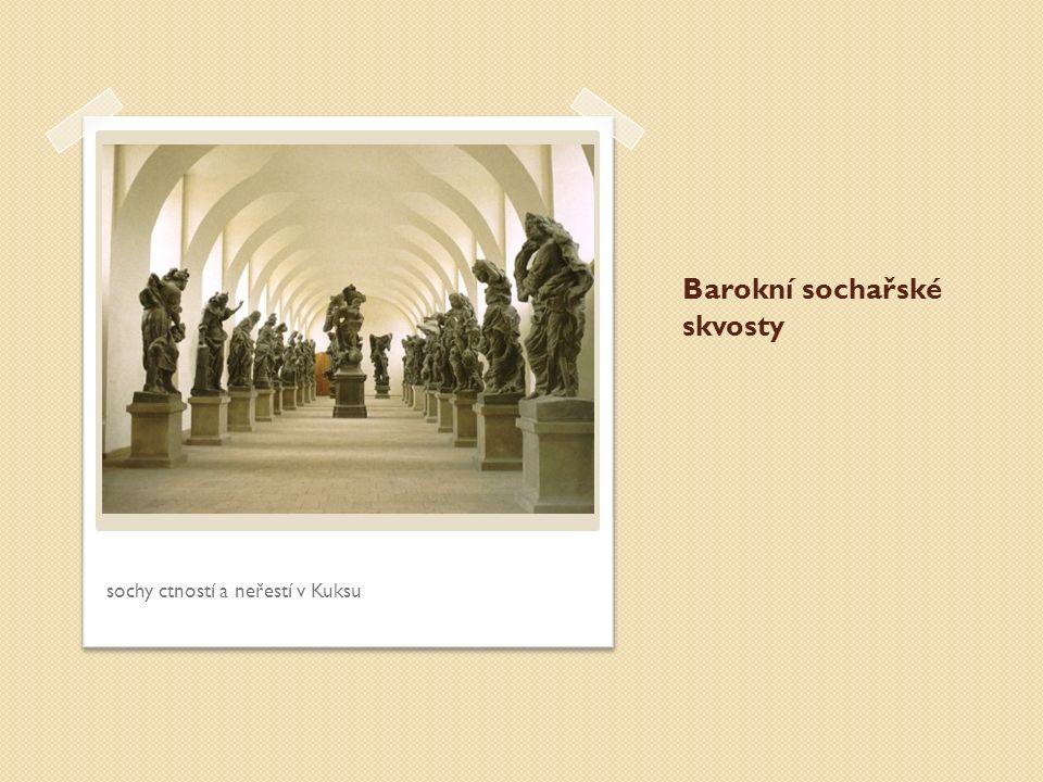 Barokní sochařské skvosty sochy ctností a neřestí v Kuksu