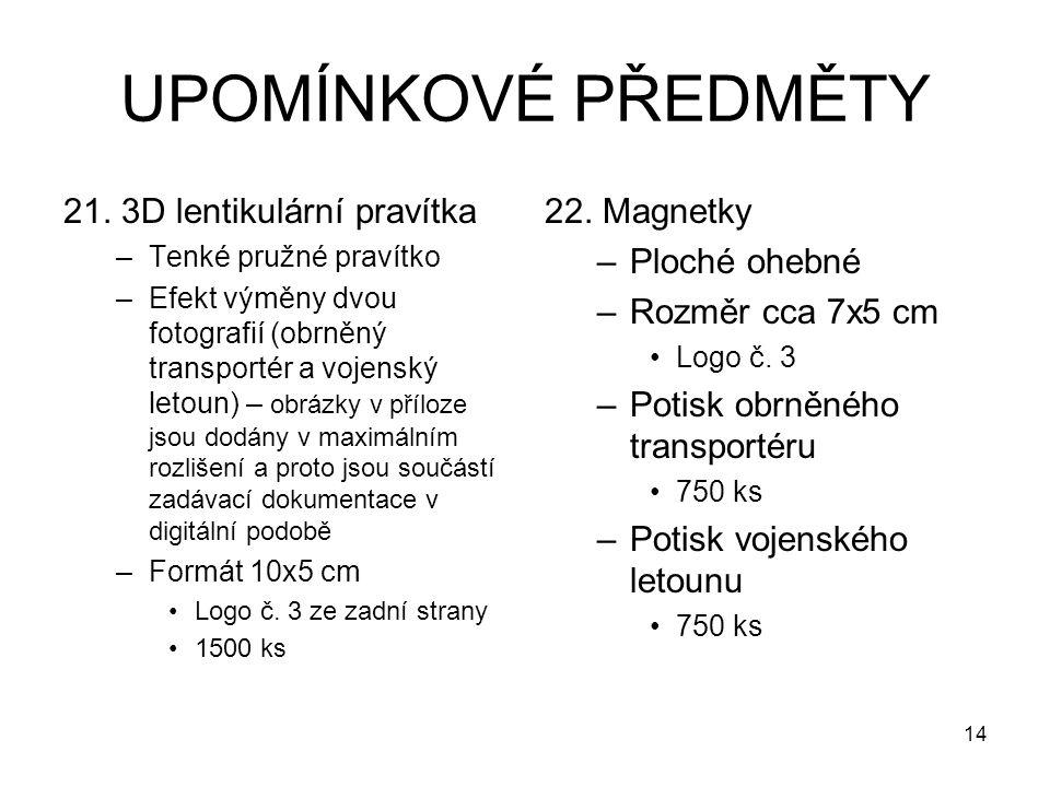 UPOMÍNKOVÉ PŘEDMĚTY 21.