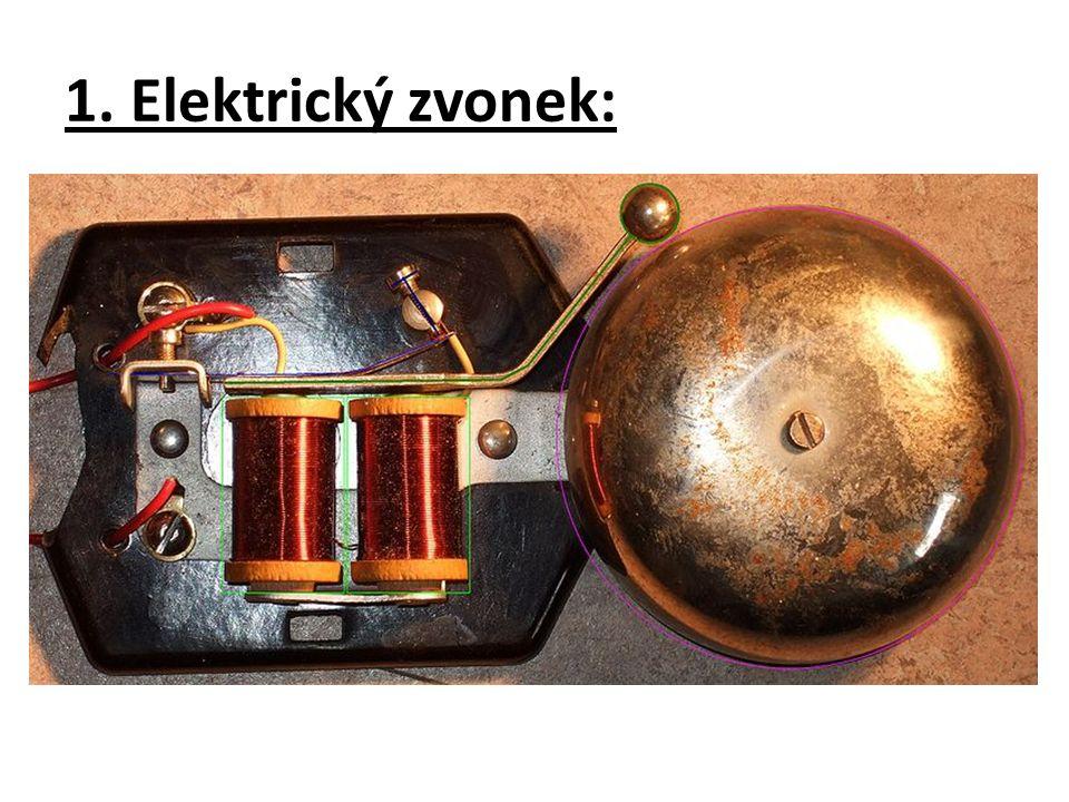 1. Elektrický zvonek: