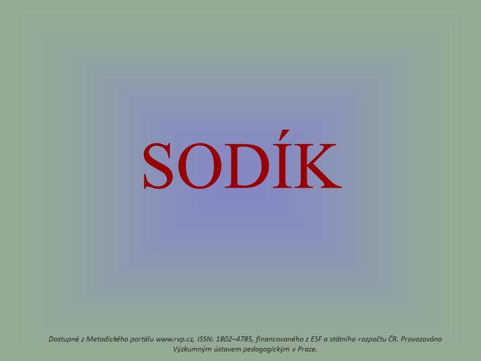 SODÍK Dostupné z Metodického portálu www.rvp.cz, ISSN: 1802–4785, financovaného z ESF a státního rozpočtu ČR.