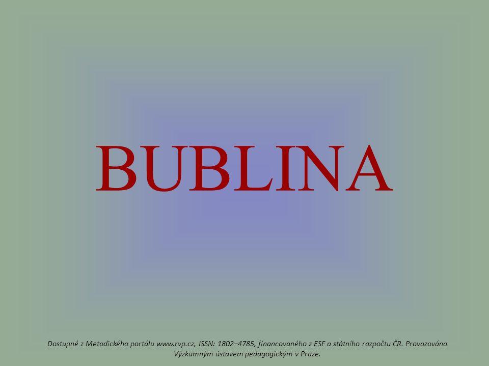 BUBLINA Dostupné z Metodického portálu www.rvp.cz, ISSN: 1802–4785, financovaného z ESF a státního rozpočtu ČR.
