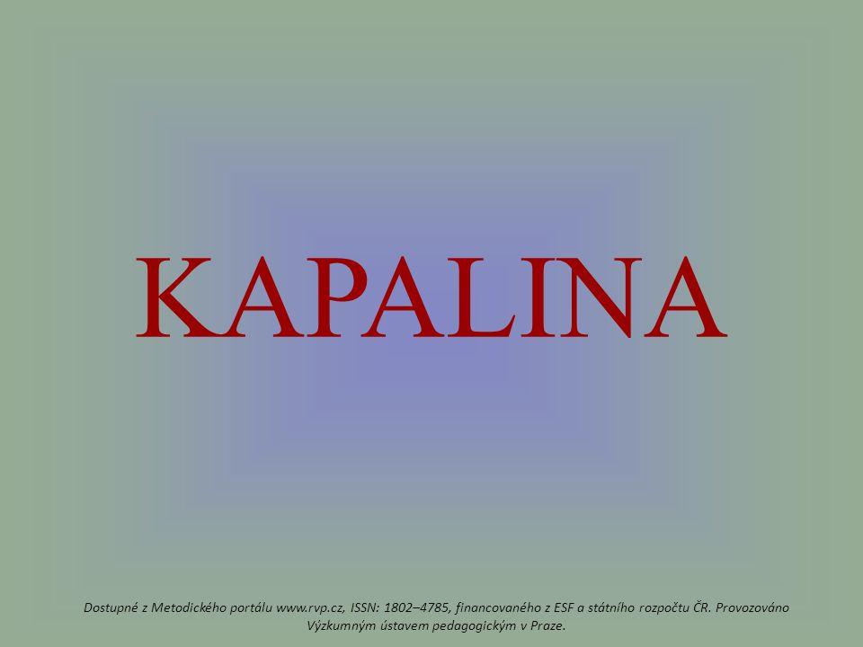 KAPALINA Dostupné z Metodického portálu www.rvp.cz, ISSN: 1802–4785, financovaného z ESF a státního rozpočtu ČR.
