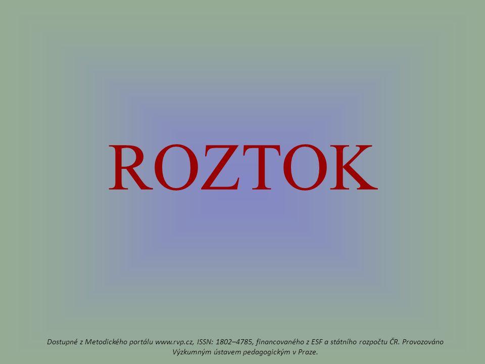 ROZTOK Dostupné z Metodického portálu www.rvp.cz, ISSN: 1802–4785, financovaného z ESF a státního rozpočtu ČR.