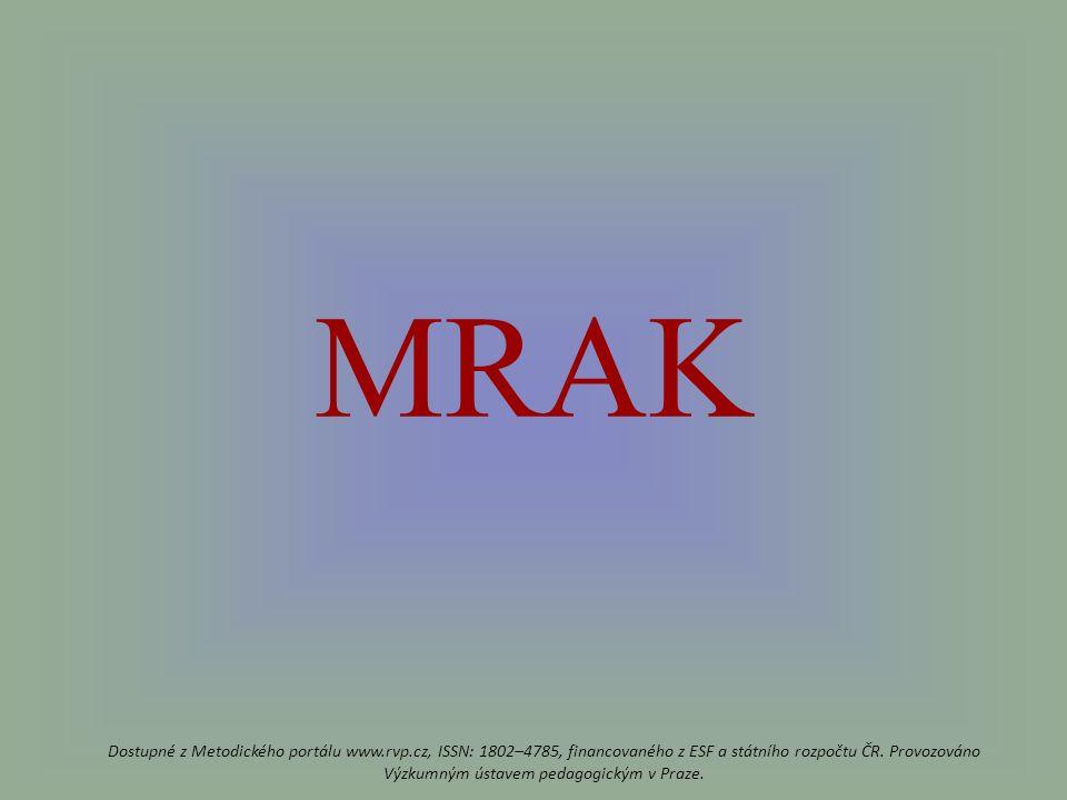 MRAK Dostupné z Metodického portálu www.rvp.cz, ISSN: 1802–4785, financovaného z ESF a státního rozpočtu ČR.