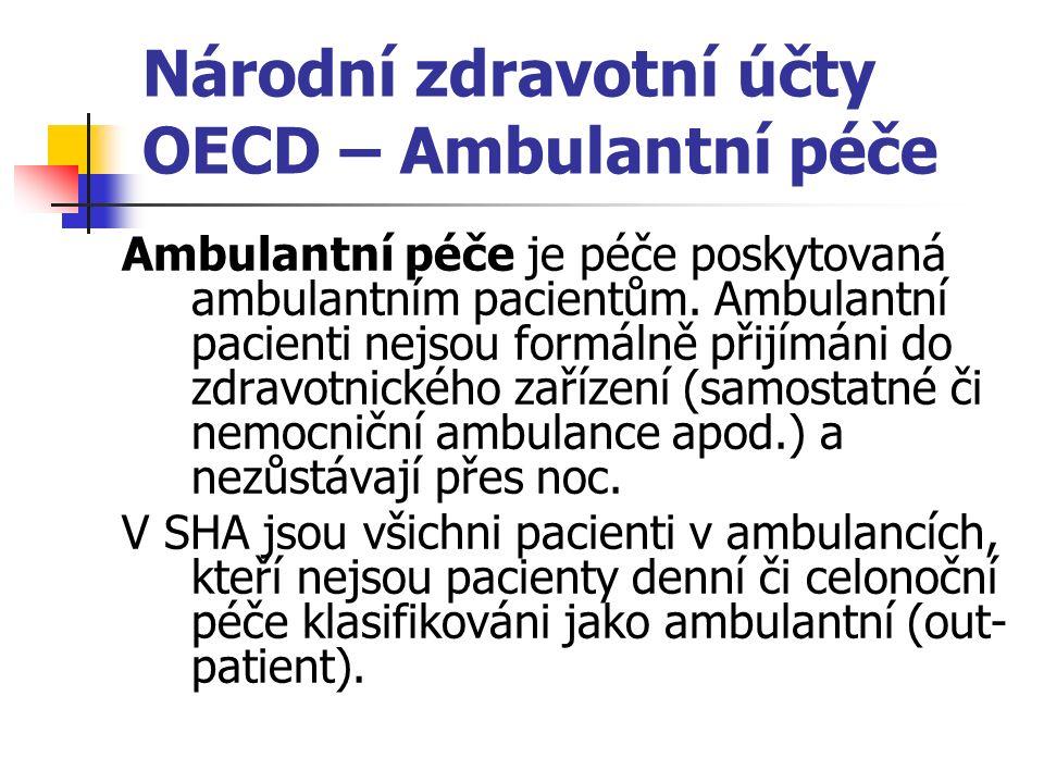 Národní zdravotní účty OECD – Ambulantní péče Ambulantní péče je péče poskytovaná ambulantním pacientům.