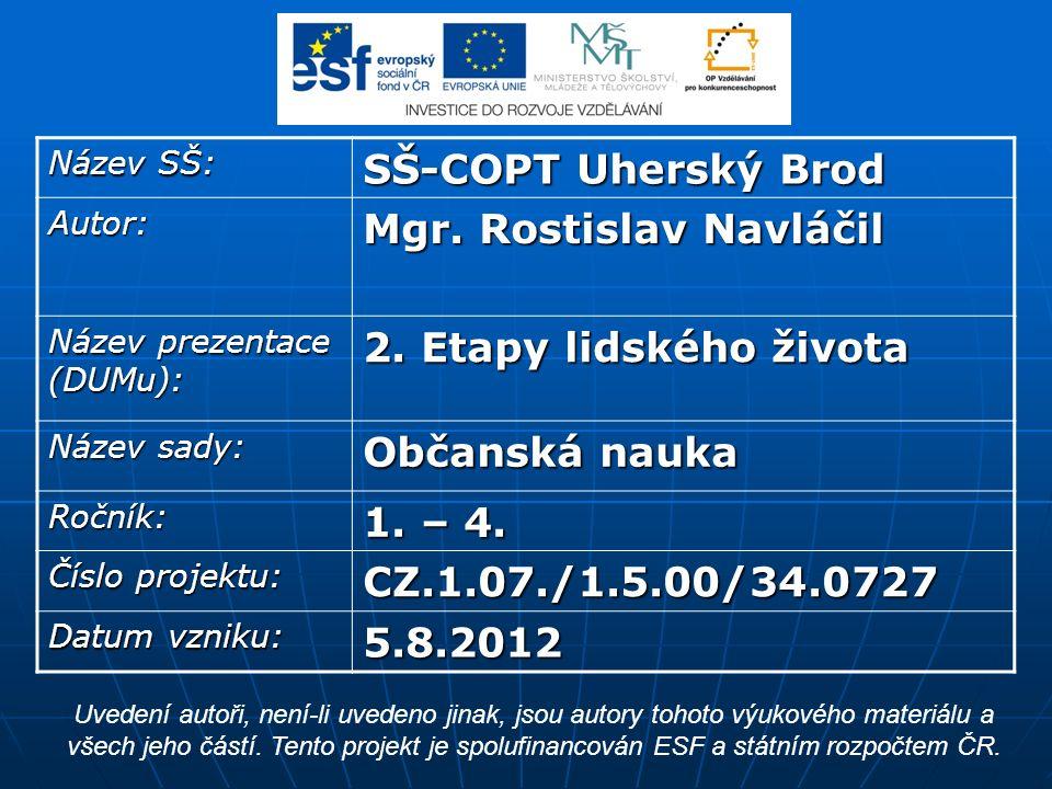 Název SŠ: SŠ-COPT Uherský Brod Autor: Mgr. Rostislav Navláčil Název prezentace (DUMu): 2.