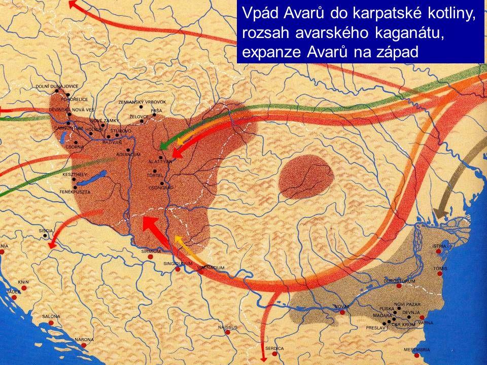 Vpád Avarů do karpatské kotliny, rozsah avarského kaganátu, expanze Avarů na západ