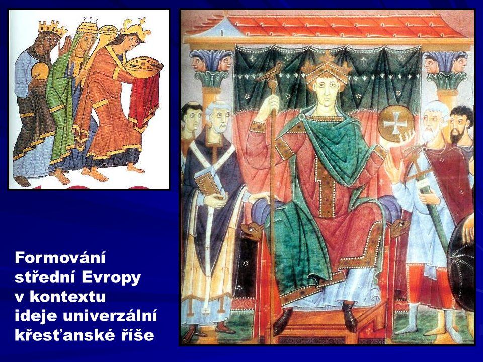 Litá bronzová (pozlacená) nákončí a ozdoby (8. stol.)